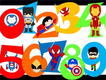 FONTS - SUPER HERO lettering and number set! - Personal & Commercial use