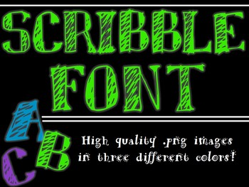 FONTS - Scribble Font - Personal and Commercial use