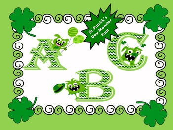 FONTS - St. Patrick's MONSTER Holiday Lettering - Personal