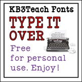 FREE FONTS: KB3 Type It Over 3-Font Set (Personal Use)