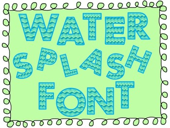 FONTS - Water Splash Font - Personal and Commercial use