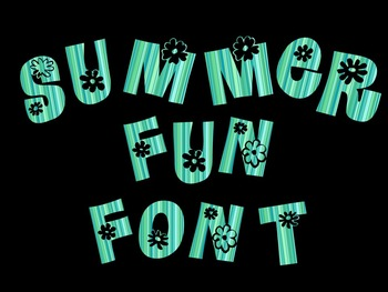 FONTS - Water blue Font