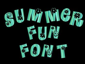 FONTS - Water blue Font