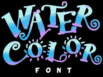 FONTS - Watercolors - Personal and Commercial Use
