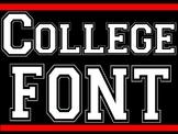 FONTS -  White Block Lettering - Collegiate Style