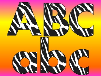 FONTS - Zebra Stripe - Black and White - Personal and Comm