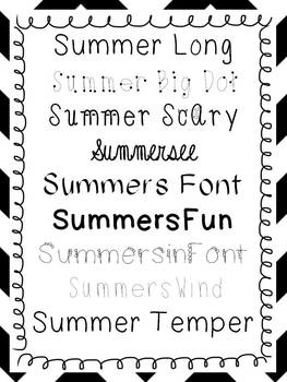 FONTS by Summer