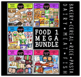 FOOD 1 Clip Art Mega Bundle {Educlips Clipart}