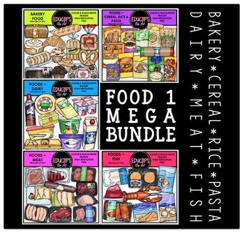 FOOD 1 Clip Art Mega Bundle {Educlips Clipart}