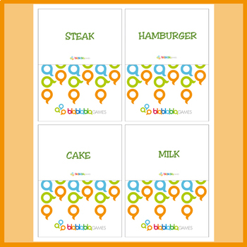 FOOD (1)  FLASHCARDS - ENGLISH
