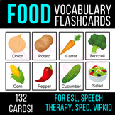FOOD Vocabulary Flashcards | ESL, Speech Therapy, SPED