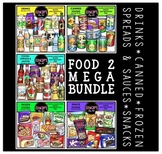 FOOD 2 Clip Art Mega Bundle {Educlips Clipart}