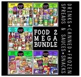 FOOD 2 Clip Art Mega Bundle {Educlips Clipart}