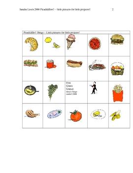 FOOD BINGO  PAGE 5-6