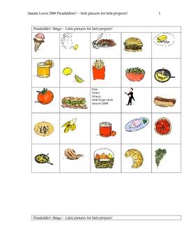 FOOD BINGO PAGES 3-4