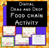 FOOD CHAIN DIGITAL ACTIVITY Drag and Drop  DISTANCE LEARNING