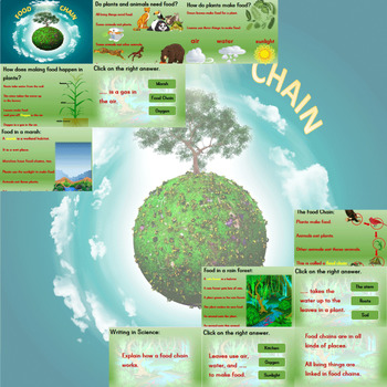 Free Life Science Lesson ❘ Food Chains Powerpoint ❘ Leveled Reading