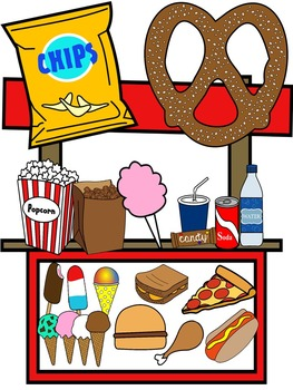 FOOD CLIP ART * SNACK CLIP ART * COLOR AND BLACK AND WHITE