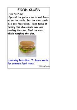 FOOD CLUES