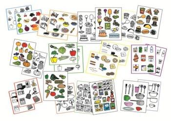 NEW LOW PRICE! FOOD Clip Art Mini BUNDLE -  sets 1 & 2 - includes 290 images!