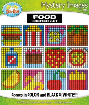 FOOD Mystery Images Clipart {Zip-A-Dee-Doo-Dah Designs}