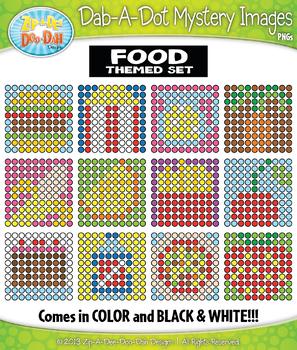 FOOD Dab-A-Dot Mystery Images Clipart {Zip-A-Dee-Doo-Dah Designs}