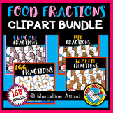 FOOD FRACTIONS CLIPART BUNDLE 2: MATH CLIPART: FOOD CLIPART