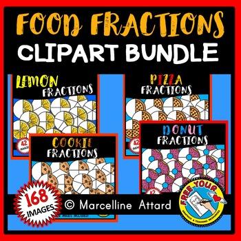 FOOD FRACTIONS CLIPART BUNDLE: MATH CLIPART: GEOMETRY CLIPART