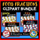 FOOD FRACTIONS CLIPART BUNDLE (GEOMETRY CLIP ART)
