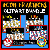 FOOD FRACTIONS CLIPART BUNDLE: MATH CLIPART: GEOMETRY CLIPART