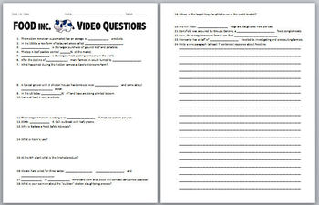 FOOD Inc. Video Worksheet