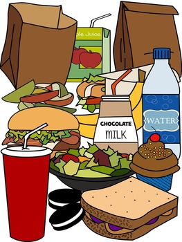FOOD CLIP ART * LUNCH CLIP ART * COLOR AND BLACK AND WHITE