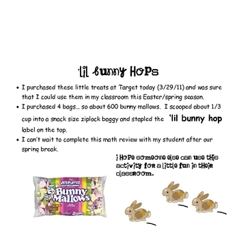 FOOD MATH -Easter - 'Lil Bunny Hop