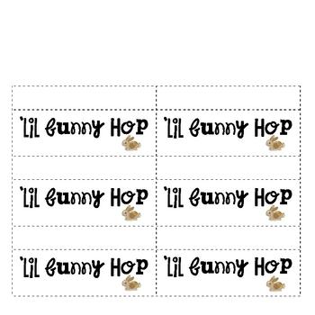 FOOD MATH -Easter - 'Lil Bunny Hop