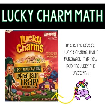 Lucky Charm Math for St. Patrick's Day