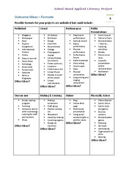 FOOD PROJECT FOR HIGH SCHOOL STUDENTS - APPLIED LITERACY