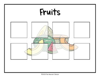 FOOD SORTING activity, SPEECH THERAPY, Autism, Vocabulary