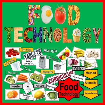 FOOD TECHNOLOGY DISPLAY - TEACHING RESOURCES LABELS FRUIT VEG HEALTHY EATING