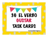 FOOD VOCABULARY AND GUSTAR TASK CARDS