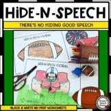 FOOTBALL ARTICULATION HIDE-N-SPEECH PHONOLOGY ARTIC SPEECH THERAPY