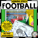 FOOTBALL ARTICULATION NO PREP worksheets SPEECH THERAPY bonus COMPLEX CLUSTERS