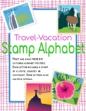 Travel Vacation Stamps Alphabet Posters