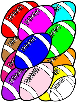 FOOTBALL CLIPART * COLOR AND B/W