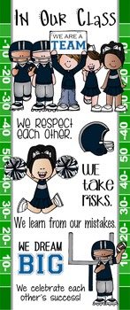 FOOTBALL - Classroom Decor: LARGE BANNER, In Our Class