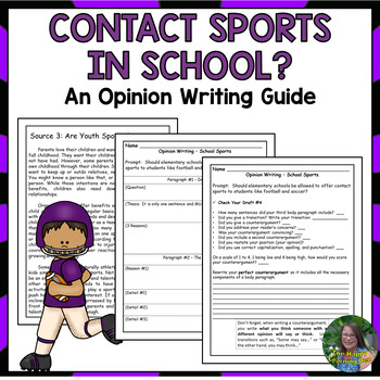 FOOTBALL Opinion Writing Prompt Guide