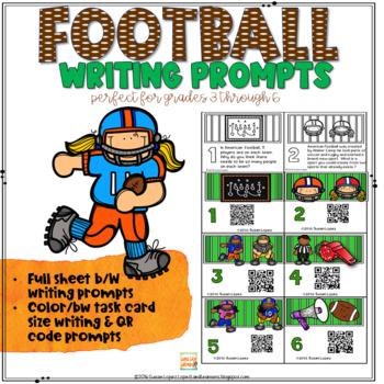 FOOTBALL QR Code Writing Prompts