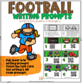 FOOTBALL Writing Prompts with & without QR Codes
