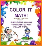 """""""FOOTBALL! SCORE A TOUCHDOWN WITH BEGINNING ALGEBRA:"""" grds2-5 + COLOR PAGE!"""