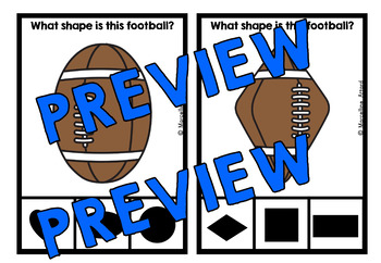 FOOTBALL SHAPES CENTER (KINDERGARTEN GEOMETRY ACTIVITIES) SPORTS THEME