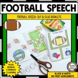 FOOTBALL SPEECH BOOKLETS ARTICULATION SPEECH THERAPY